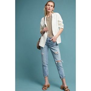Anthropologie Moth West End Sweater Blazer